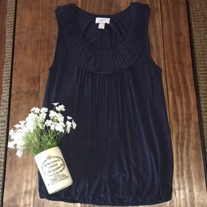 LOFT dressy tank with collar detail // size small
